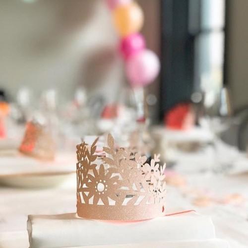 Ροζ Κορώνες Με Γκλίτερ-Pink Glittered Crowns-Meri Meri