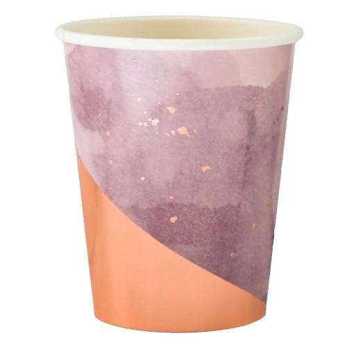 Χάρτινα Ποτήρια Σε Λεβάντα Και Ροζ Χρυσό - Amethyst By Harlow & Grey