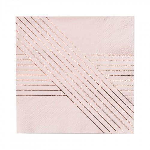Χαρτοπετσέτες Γλυκού Σε Ροζ Και Ροζ Χρυσό - Amethyst By Harlow & Grey