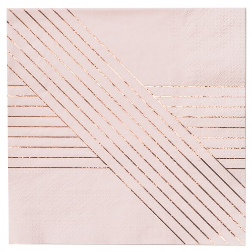 Χαρτοπετσέτες Σε Ροζ Και Ροζ Χρυσό - Amethyst By Harlow & Grey