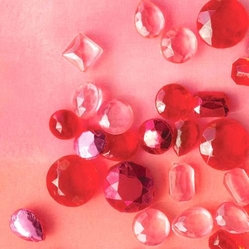 Βρώσιμα Διαμάντια 13mm-Απαλό  Ροζ