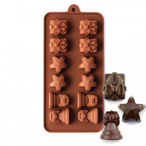 Φόρμα Σιλικόνης Για Σοκολάτα Χριστουγεννιάτικα Σχέδια - Christmas Silicone Chocolate Mold N.Y. Cake