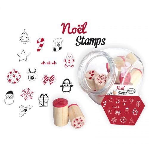 Σετ Χριστουγεννιάτικες Σφραγίδες Σε Γυάλινο Βαζάκι (14pcs)