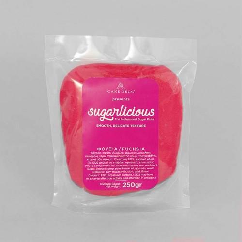 Ζαχαρόπαστα Sugarlicious Φούξια 250gr