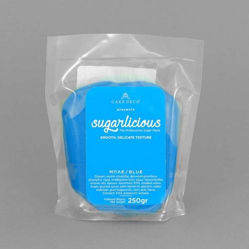 Ζαχαρόπαστα Sugarlicious Μπλε 250gr