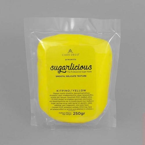 Ζαχαρόπαστα Sugarlicious Κίτρινο 250gr