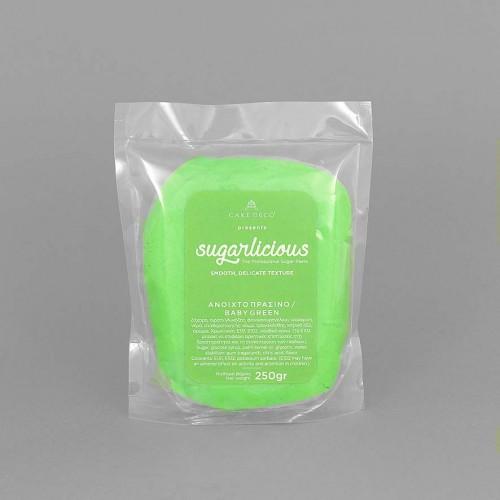 Ζαχαρόπαστα Sugarlicious Πράσινο Ανοιχτό 250gr