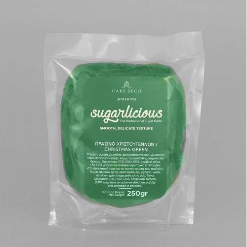 Ζαχαρόπαστα Sugarlicious Πράσινο Χριστουγέννων 250gr