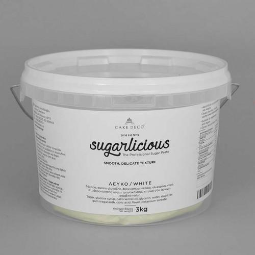 Ζαχαρόπαστα Sugarlicious Λευκό 3Kg