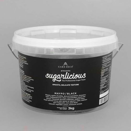 Ζαχαρόπαστα Sugarlicious Μαύρο 3Kg