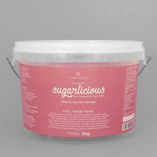 Ζαχαρόπαστα Sugarlicious Ροζ-Baby Pink 3Kg