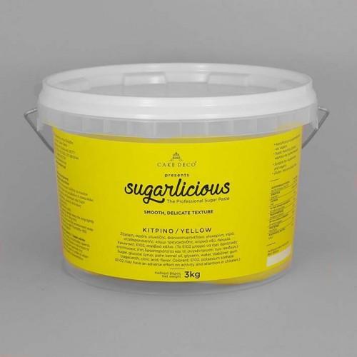 Ζαχαρόπαστα Sugarlicious Κίτρινο 3Kg