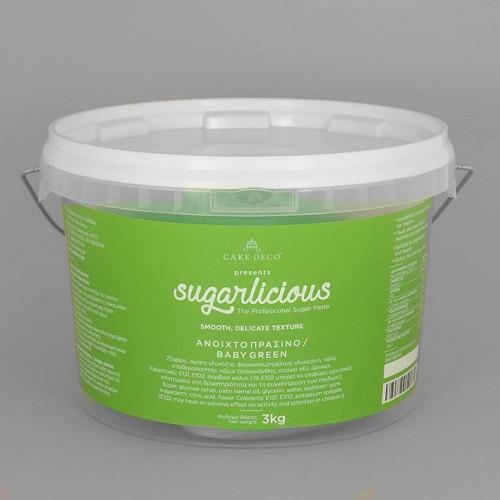 Ζαχαρόπαστα Sugarlicious Πράσινο Ανοιχτό 3 Kg
