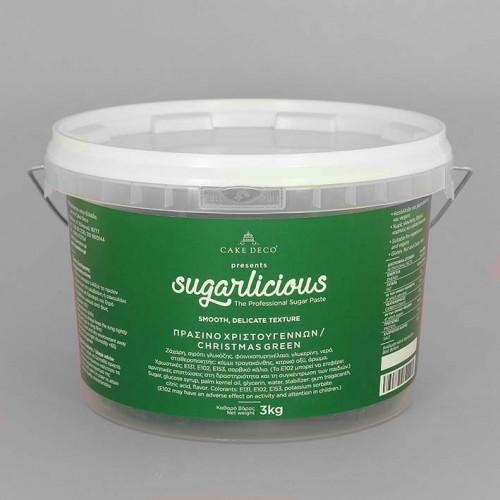 Ζαχαρόπαστα Sugarlicious Πράσινο Χριστουγέννων 3Kg