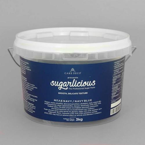Ζαχαρόπαστα Sugarlicious Ναυτικό Μπλε  3Kg