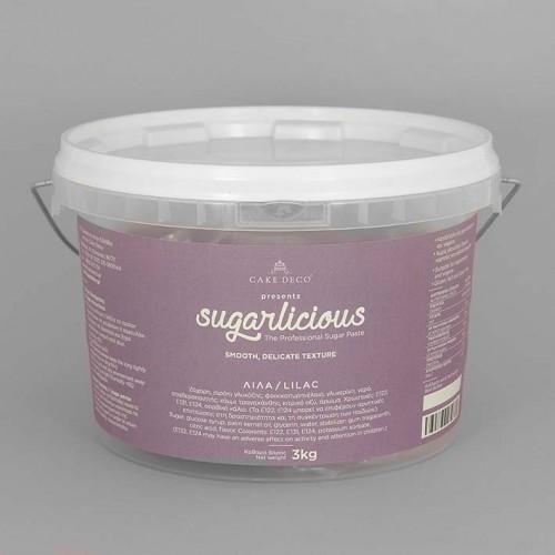Ζαχαρόπαστα Sugarlicious Λιλά 3Kg
