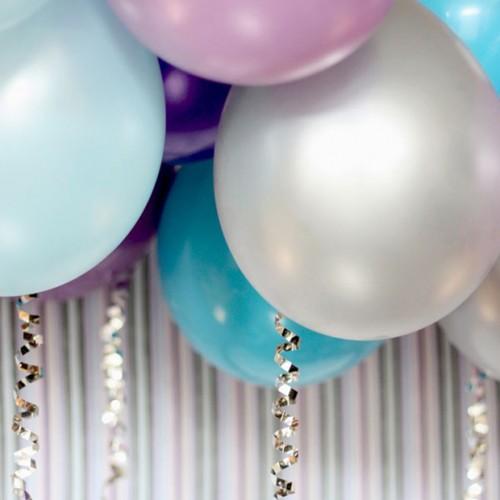Περλέ Ασημί Μπαλόνια 30cm (10pcs)