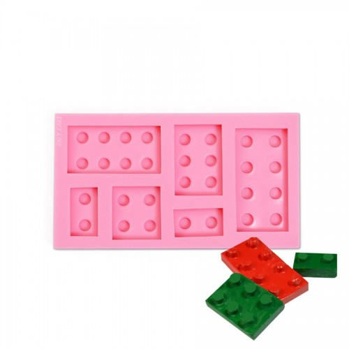 Καλούπι Σιλικόνης Τουβλάκια Lego Brick Block Silicone Mold N.Y. Cake