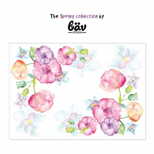 Χάρτινα Ρομαντικά Σουπλά Λουλούδια -Watercolor Flowers-βαν ντιζάιν(12pcs)