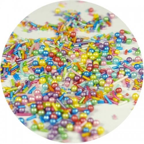 Sprinklicious Πολύχρωμες Πέρλες Και Τρούφα Rainbow Mix 170g