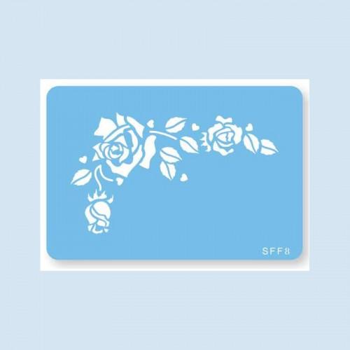 Romantic Roses Stencil-Στένσιλ Ρομαντικά Τριαντάφυλλα