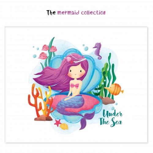 Αυτοκόλλητα για Συσκευασίες Γοργόνα Under The Sea -The Mermaid Collection