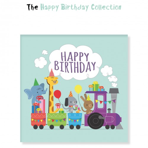 Happy Birthday Τετράγωνα Αυτοκόλλητα για Συσκευασίες Και Δώρα