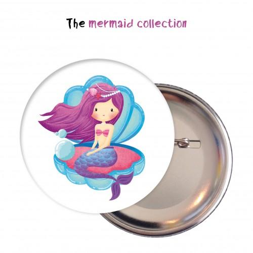 Κονκάρδες Γοργόνα Mermaid Under The Sea Party Pins Για Δώρα Και Party Favors