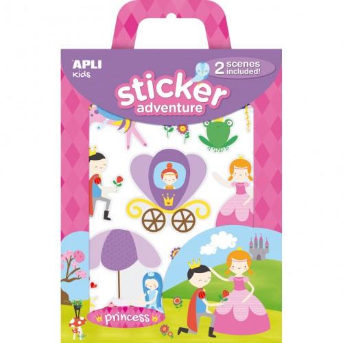 Παιδικά Αυτοκόλλητα Πριγκίπισσα- Stickers Adventure Princess
