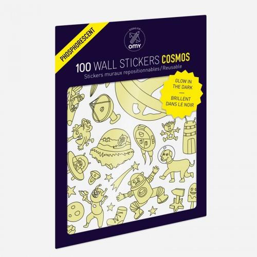 Παιδικά Αυτοκόλλητα Διάστημα Λάμπουν Στο Σκοτάδι - Stickers Cosmos OMY