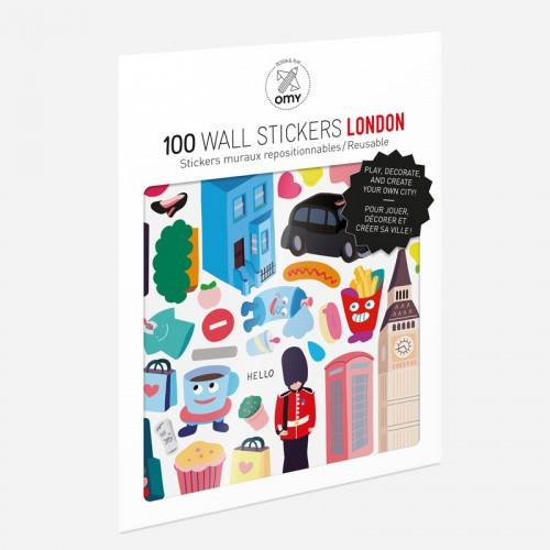 Παιδικά Αυτοκόλλητα Λονδίνο - Stickers London OMY