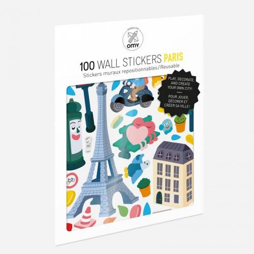 Παιδικά Αυτοκόλλητα Παρίσι - Stickers Paris OMY