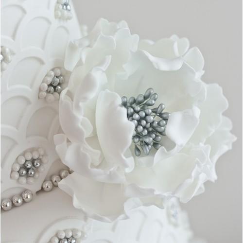 Περλέ Ασημί Μικροί Στήμονες Λουλουδιών