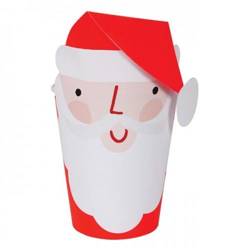 Χάρτινα Χριστουγεννιάτικα Ποτήρια Άγιος Βασίλης 8pcs Meri Meri