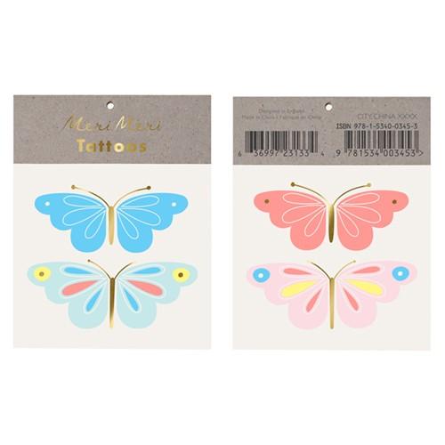 Τατουάζ Πεταλούδες - Neon Butterfly Tattoos Meri Meri