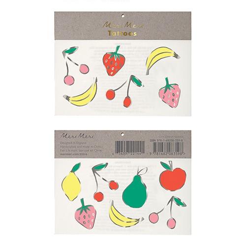 Τατουάζ Καλοκαιρινά Φρούτα- Foil Neon Fruit Tattoos Meri Meri