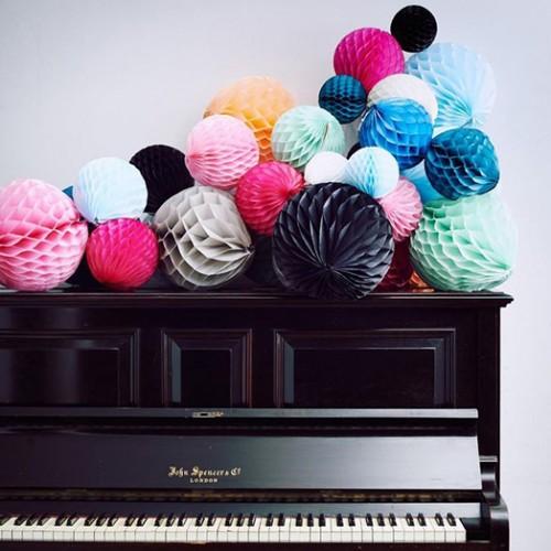 abcJoy Μαύρη Honeycomb ball - 14''