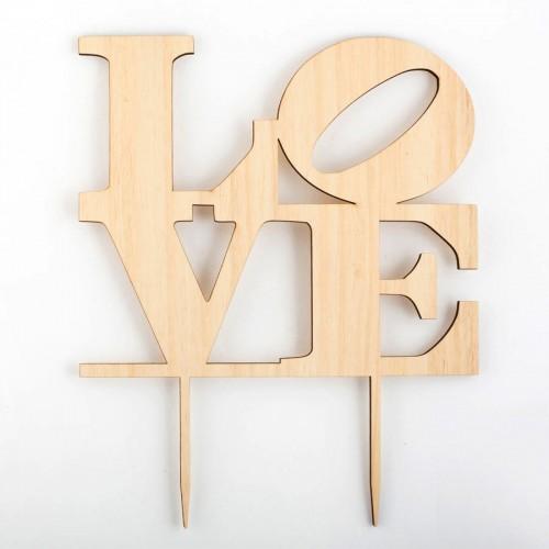 Σετ Wedding Cake Topper Love- Τόπερ Γαμήλιας Τούρτας