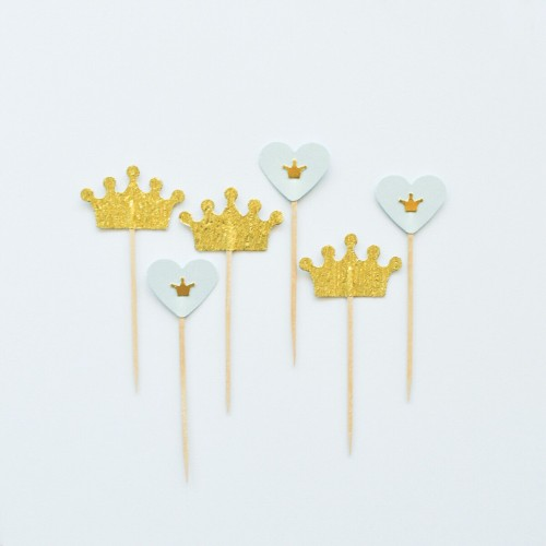 Cupcake Toppers-Μικρός Πρίγκιπας-Hand Made by Ministry Of Art (6pcs)
