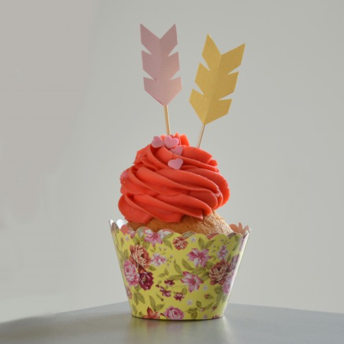 Cupcake Toppers Ινδιάνικα Βέλη Για Κορίτσι Hand Made by Ministry Of Art (6pcs)