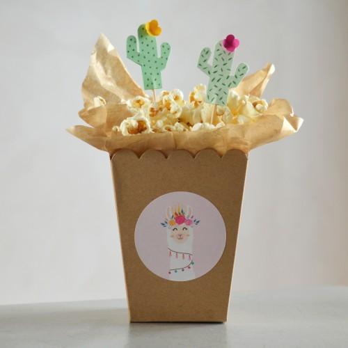 Κραφτ Χάρτινα Popcorn Boxes Small-Κουτιά Για Ποπ Κορν και Marshmallows