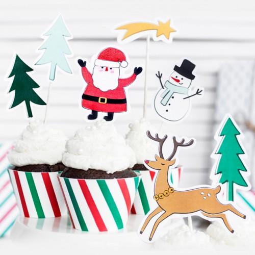 Toppers Χριστουγεννιάτικα Merry Xmas PartyDeco