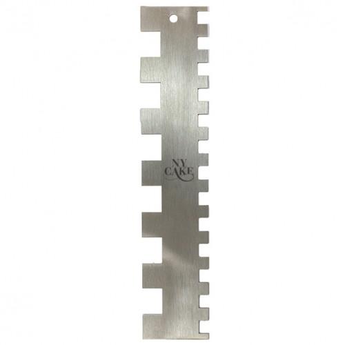 Μεταλλική Χτένα Διπλής Όψης Double Squared Comb Ν.Y.CAKE
