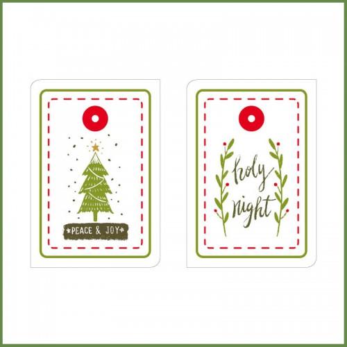 """Χριστουγεννιάτικες Ετικέτες-6 Xmas Tags By """"Βαν Ντιζάιν"""""""