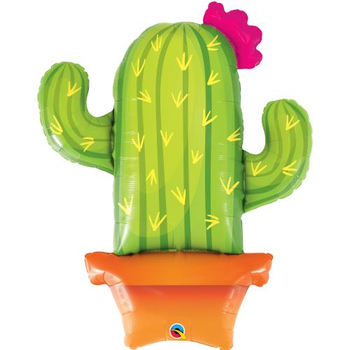 Μεταλλικό Μπαλόνι Κάκτος Potted Cactus