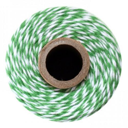 abcJoy σπάγγος σε χρώμα λευκό με πράσινο (100m)