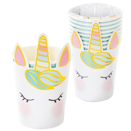 Χάρτινα Ποτήρια Μονόκερος Unicorn Paper Cups -Talking Tables