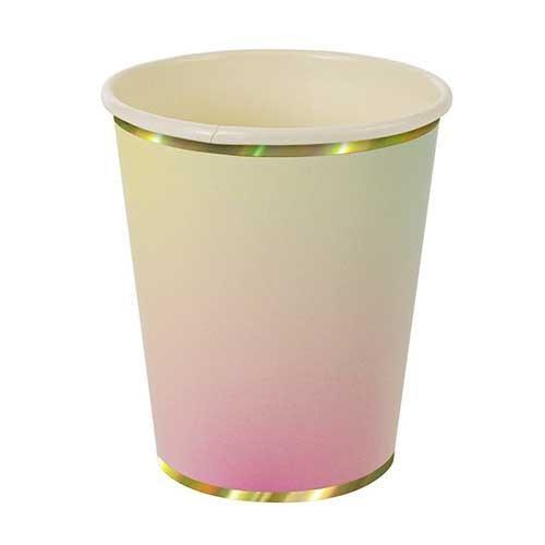 Χάρτινα Ποτήρια Ombre & Gold (8pcs)