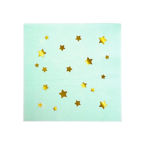 Χαρτοπετσέτες Γλυκού Βεραμάν Με Χρυσά Αστέρια