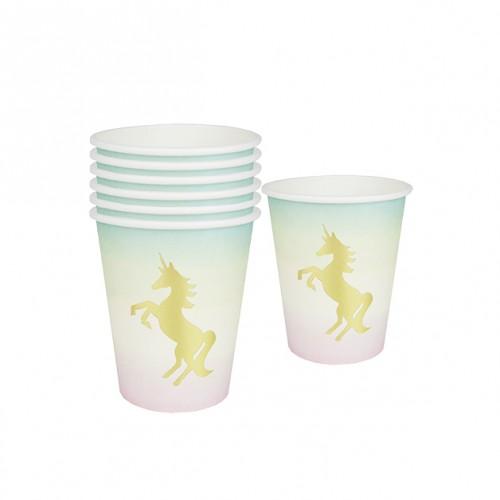 Χάρτινα Ποτήρια Μονόκερος We ♥ Unicorns Paper Cups-Talking Tables